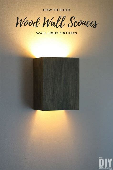 build wall light fixtures diy wood wall sconces