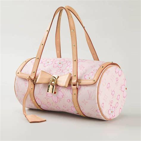 louis vuitton cherry blossom monogram barrel bag  stdibs