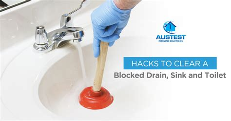 clear blocked drains sink  toilet aus test