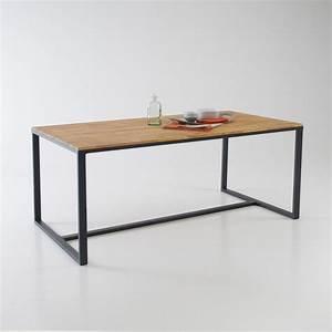 Table Bois La Redoute : table indus 6 8 couverts hiba naturel la redoute interieurs la redoute ~ Melissatoandfro.com Idées de Décoration
