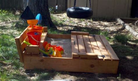 ana white sand box  benches diy projects