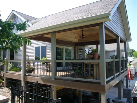 Deck Designs For Above Ground Pool by Covered Decks Designs Covered Decks Pictures Covered Deck