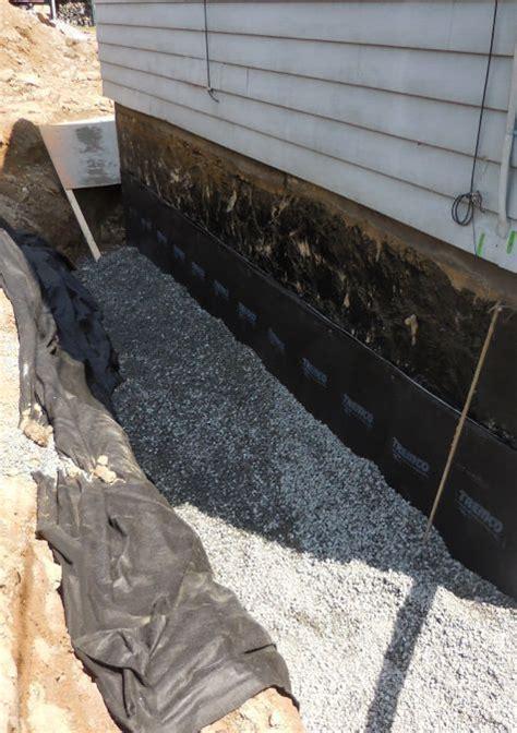 exterior foundation drain stops water   basement waterproofing