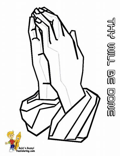 Jesus Coloring Easter Pages Hands Easy Drawing