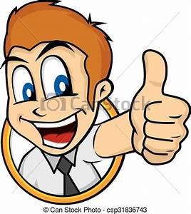 Cartoon guy thumbs up character vector illustration eps ...