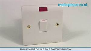 Trading Depot  Td Line 20 Amp Double Pole Switch With Neon