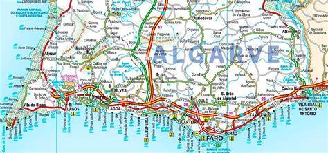 Algarve Karte Strände