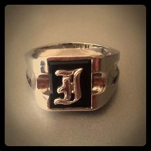 vintage sterling silver letter initial quotjquot ring 725 from With letter j ring