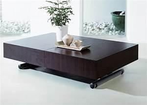 Table Basse Transformable En Table Haute : table basse relevable de salon ~ Teatrodelosmanantiales.com Idées de Décoration