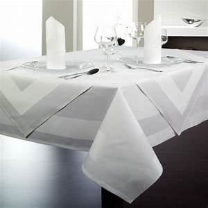 Serviette De Table Blanche : nappe blanche pour restaurants traiteurs et h tels lti ~ Teatrodelosmanantiales.com Idées de Décoration