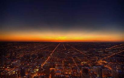 Skyline Sunset Chicago Wallpapers Background Backgrounds Desktop