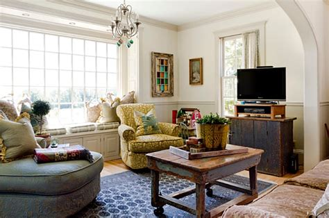 farmhouse living room charming home tour color in upstate new york town Colorful