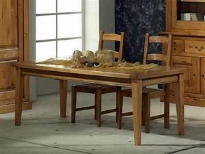 Table Chene Massif Rustique : table de repas rustique honorine en ch ne rectangulaire avec allonges meubles bois massif ~ Teatrodelosmanantiales.com Idées de Décoration