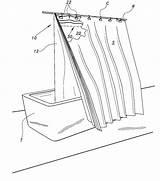 Curtain Shower Drawing Getdrawings sketch template