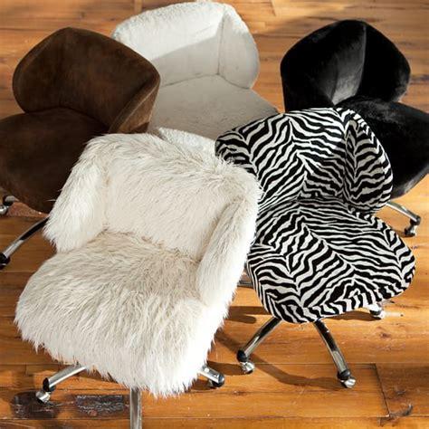 ivory sherpa faux fur wingback desk chair pbteen