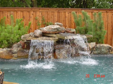 swimming pool waterfalls pictures pin by samantha russell on hardscape for pool pinterest