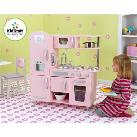 cuisine kidkraft vintage kidkraft vintage play kitchen in pink 53179