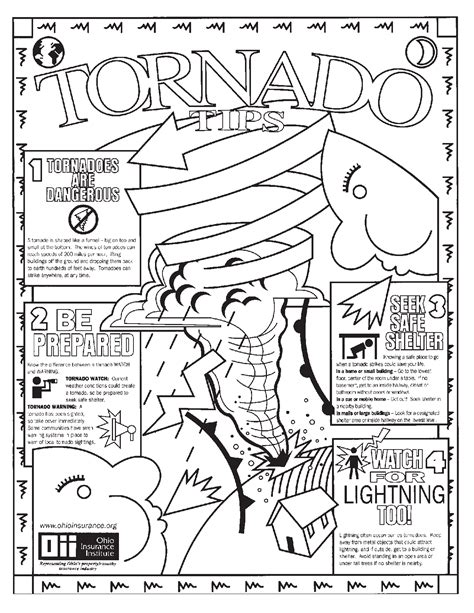 Tornadoes Coloring Pages Printable Tornadoes Best Free