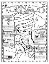 Tornado Coloring Pages Weather Storm Colour Warning Printable Disaster Severe Natural Print Realistic Getdrawings Twister Getcolorings Drawing Crafts sketch template