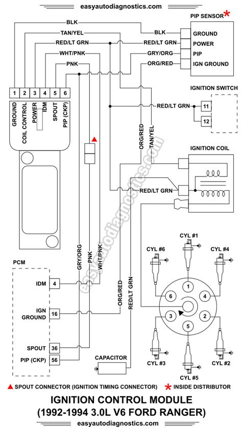 Nissan Wiring Diagram Ford Ignition Module by Part 1 1992 1994 3 0l Ford Ranger Ignition Module