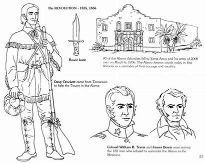 Alamo Remember Coloring Texas Defenders Pages Story