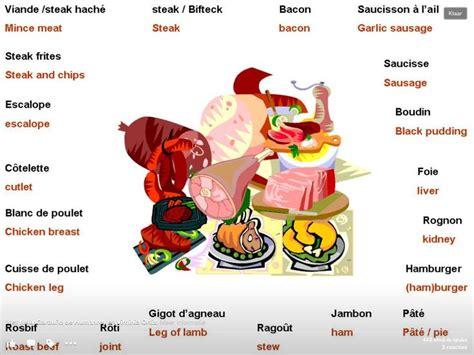 cuisine viande la viande vocabulaire cuisine manger et boire