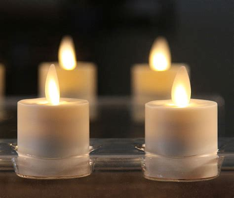 moving flame tealights battery operated set    timer