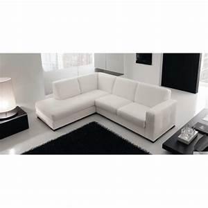 Canapé D Angle Cuir Blanc : canap d 39 angle en cuir design lyon et canap s cuir 2 ~ Melissatoandfro.com Idées de Décoration