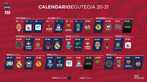 Publicado el calendario de la Liga ACB 20/21 - www ...