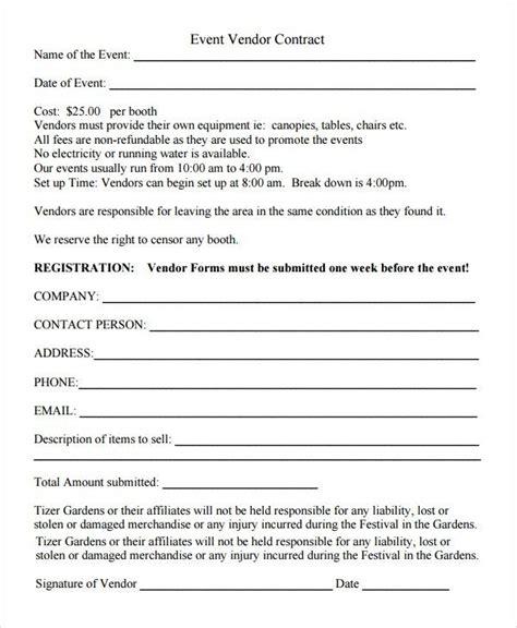 sle vendor registration form 8 documents in word pdf for event vendor application