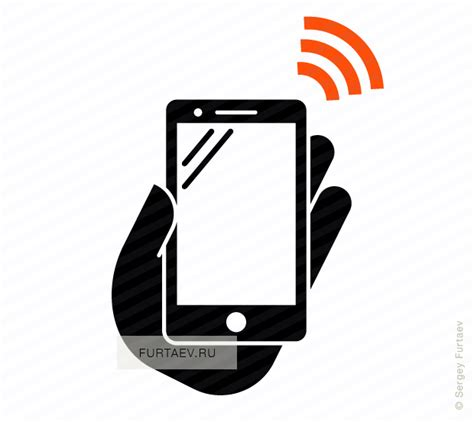 smartphone icon vector png smartphone with nfc vector icon