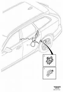 Volvo V90 Cross Country Wiring Harness  Cable  Axle  Rear