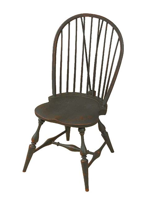 bow back side chair w brace