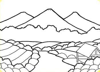 Step by Step Menggambar Pemandangan Alam Cikal Aksara
