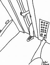 Elevator Drawing Drawings Getdrawings Buttons sketch template