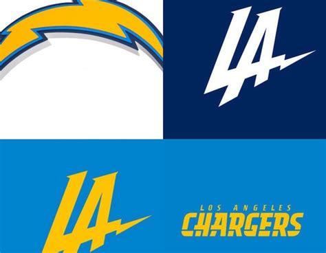 The Los Angeles Chargers Go Through 4 Different Logos In 2