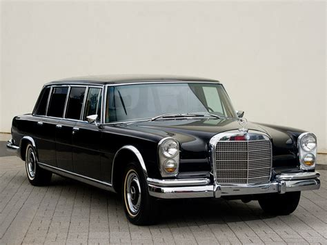 The forerunner of the modern maybach marque, the 600 grosse mercedes. Mercedes Benz 600 6-door Pullman Limousine black classic ...