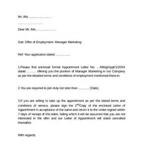 Cover Letter For Employment Sle Sle Employment Cover Letter Template 8 Free Documents In Pdf Word