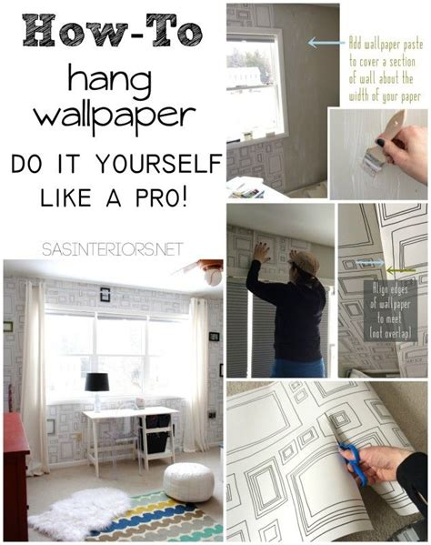 tutorial tips tricks  hanging wallpaper