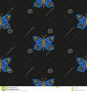 Butterfly mosaic pattern stock illustration. Image of ...