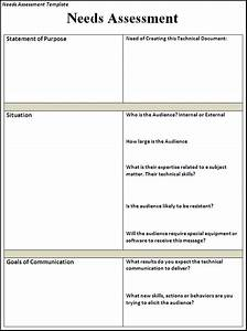 needs assessment template free printable word templates With needs assessment proposal template