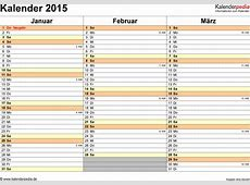 Kalender 2015 Word zum Ausdrucken 16 Vorlagen kostenlos