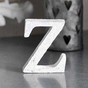 small wooden letter z white miljogarden webshop With small white wooden letters