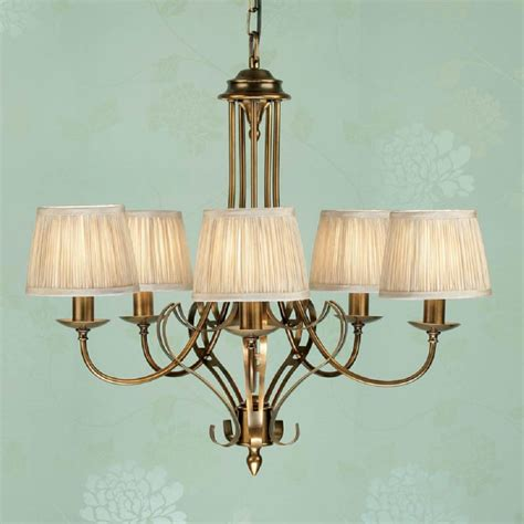 traditional 5 light antique brass ceiling pendant light
