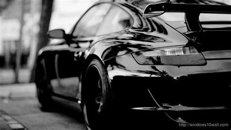 Black Porsche Car Background Wallpaper