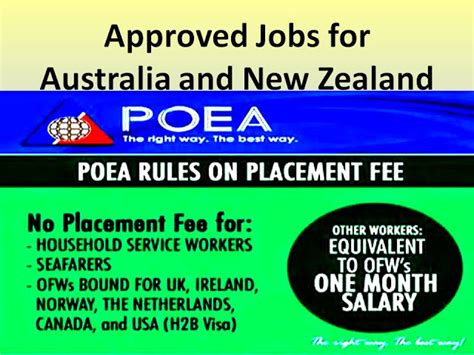 poea approved jobs australia and new zealand