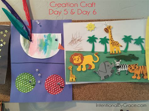 home preschool week in review all god creates is 962 | creation craft day 5 and 6