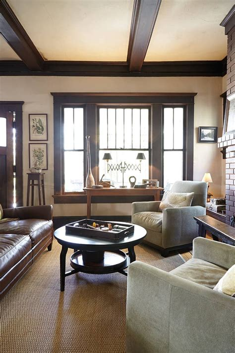 Living Room Window Trim Ideas by Tour Of A Craftsman Home In Atlanta Ga Living Room