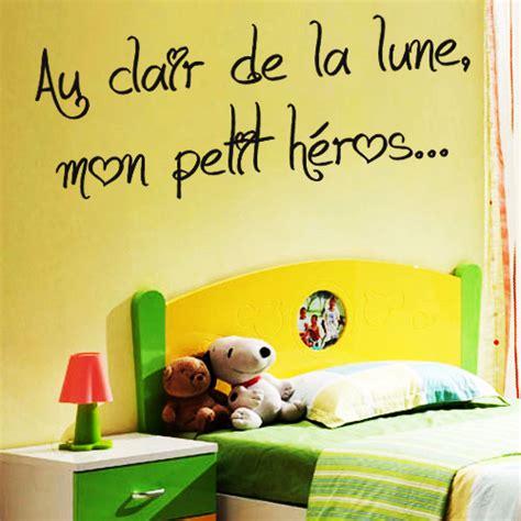 phrase chambre bébé sticker phrase pour chambre d 39 enfant au clair de la lune