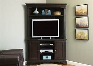Carriage house corner entertainment center 48 inch tv in for Corner home theater furniture